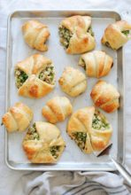 Chicken and Broccoli Stuffed Crescent Rolls / Bev Cooks