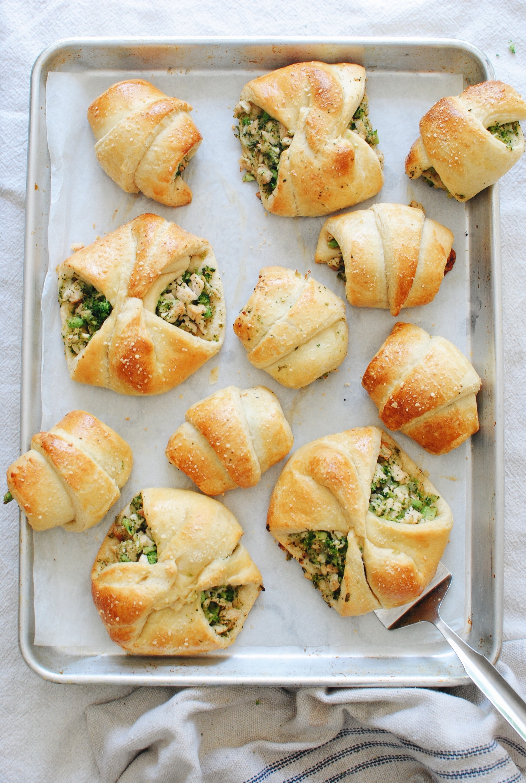 Chicken And Broccoli Stuffed Crescent Rolls Bev Cooks