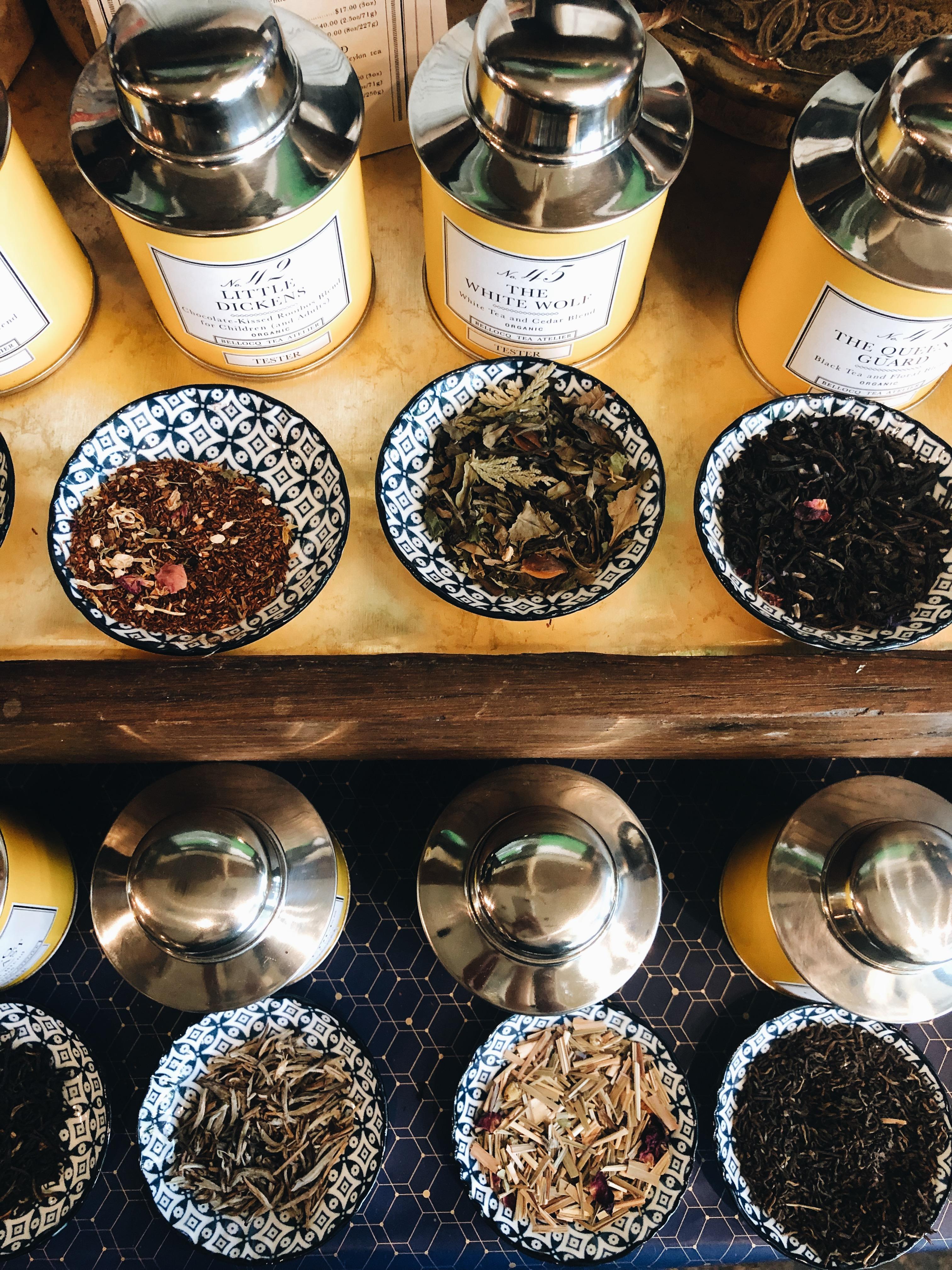 tea and oils