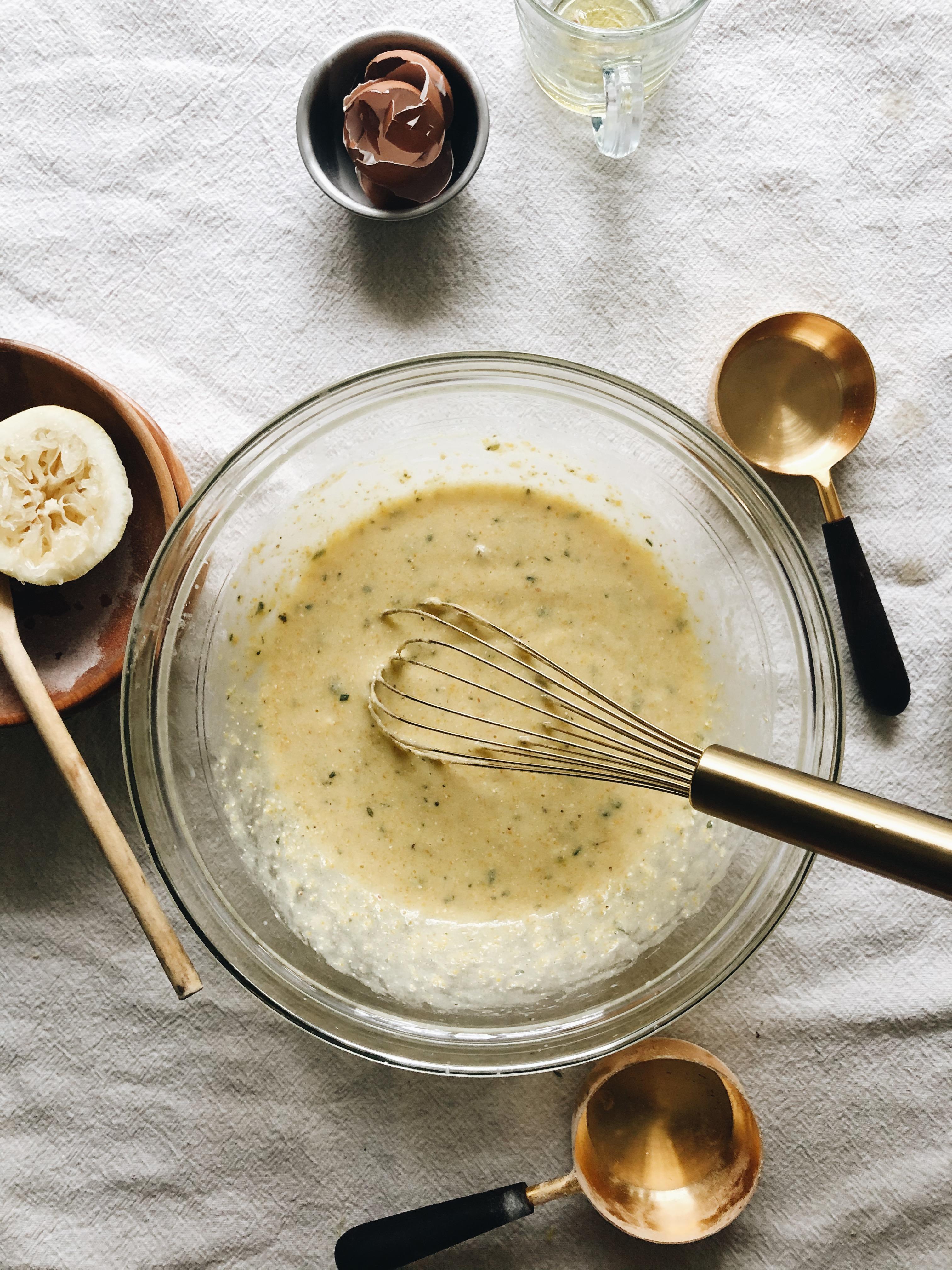Olive Oil and Corn Mini Bundt Cakes / Bev Cooks