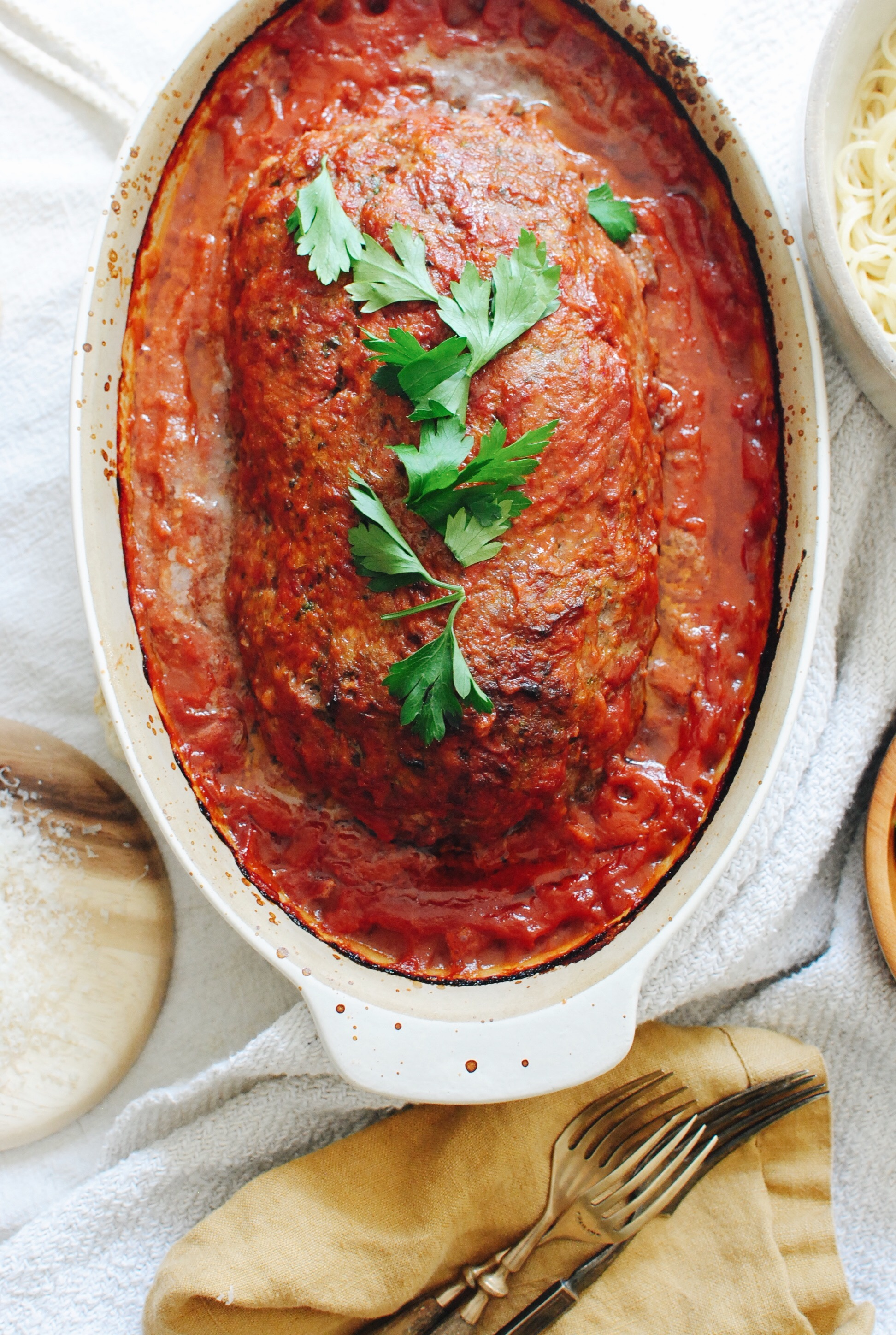 The Best Meatloaf in Tomato Sauce / Bev Cooks