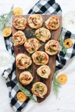 Baked Cheesy Pinwheels with Shallots and Prosciutto / Bev Cooks