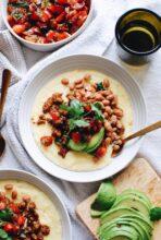 Creamy Mexican Polenta Bowls / Bev Cooks
