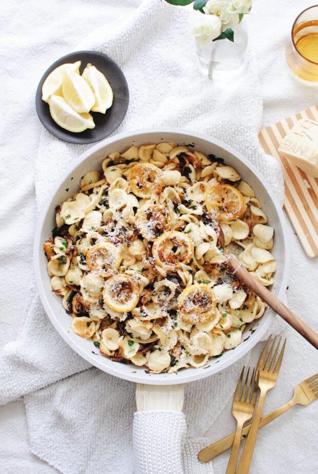 Lemon Fennel Orecchiette / Bev Cooks
