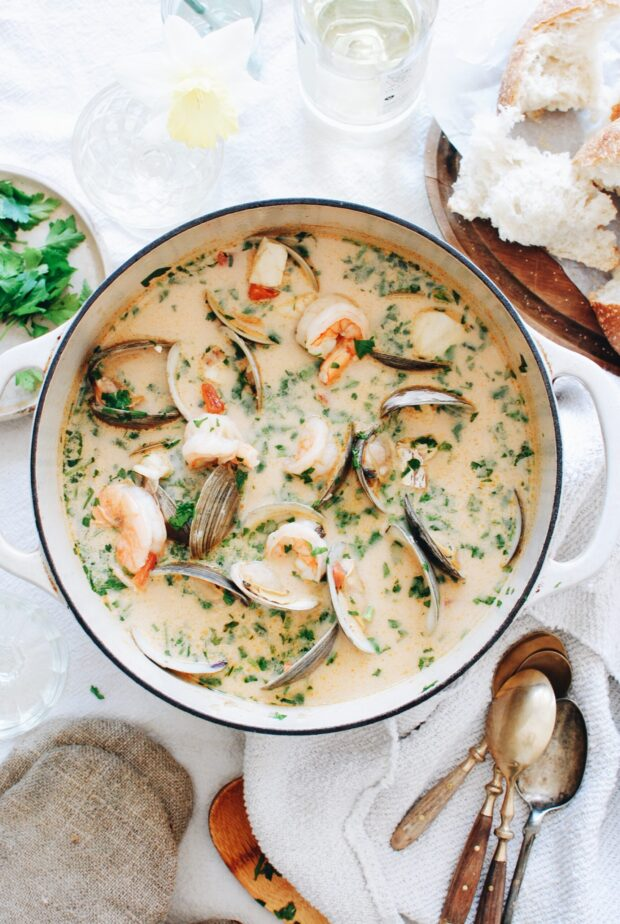 Rustic Seafood Soup / Bev Cooks