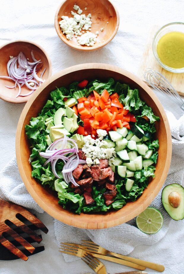 My Go-To Steak Salad / Bev Cooks