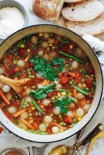Beef and Vegetable Soup / Bev Cooks