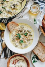 Creamy Chicken and Beans / Bev Cooks