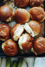 Slow Cooker Creamy Chicken Sliders / Bev Cooks