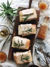Rosemary Chicken Sandwiches with Spinach and Brie / Bev Cooks