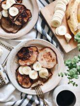 Banana Pumpkin Pancakes / Bev Cooks