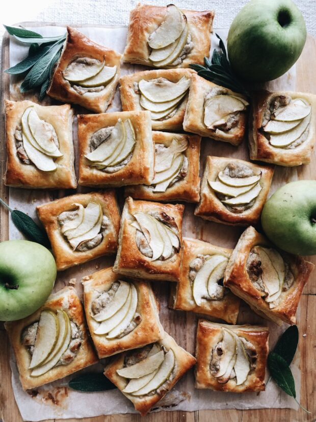 Cardamom and Green Apple Puff Pastries / Bev Cooks