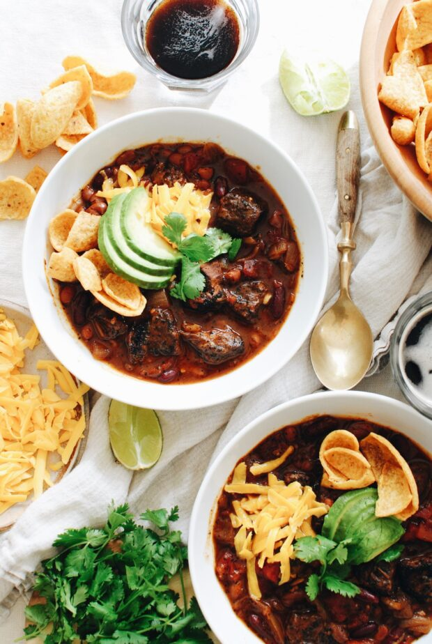 Slow Cooker Steak Chili / Bev Cooks