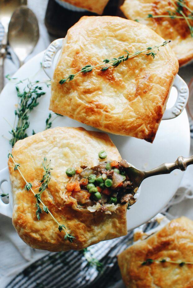 Mini Beef Pot Pies / Bev Cooks