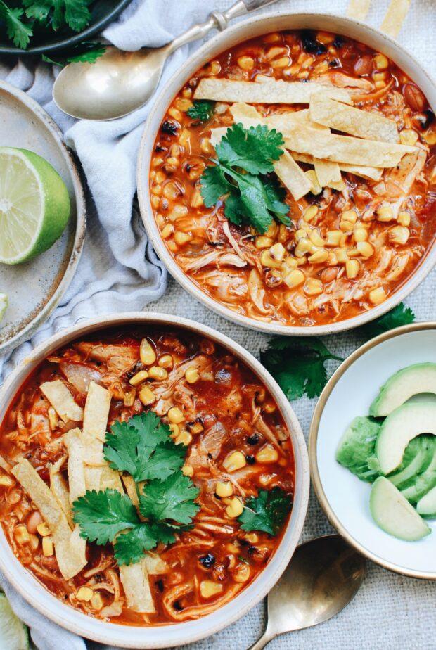 Chicken Tortilla Soup / Bev Cooks