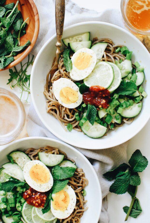 Quick Soba Noodle Salad / Bev Cooks