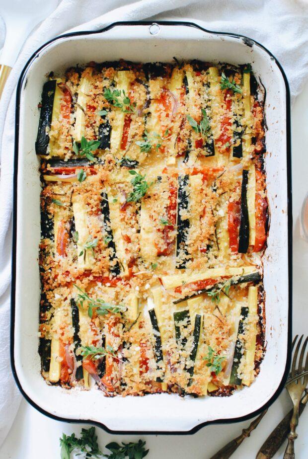 Summer Vegetable Bake / Bev Cooks
