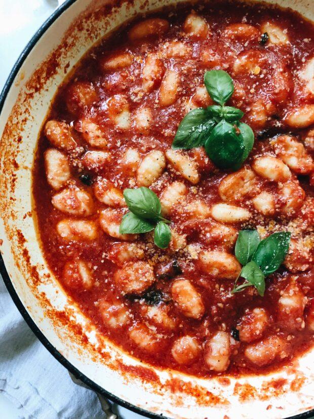 Gnocchi with a Fresh Tomato Sauce / Bev Cooks