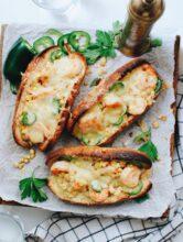 Gruyere Shrimp Hoagies with Corn and Jalapeno / Bev Cooks
