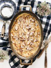Apple Almond Custard / Bev Cooks