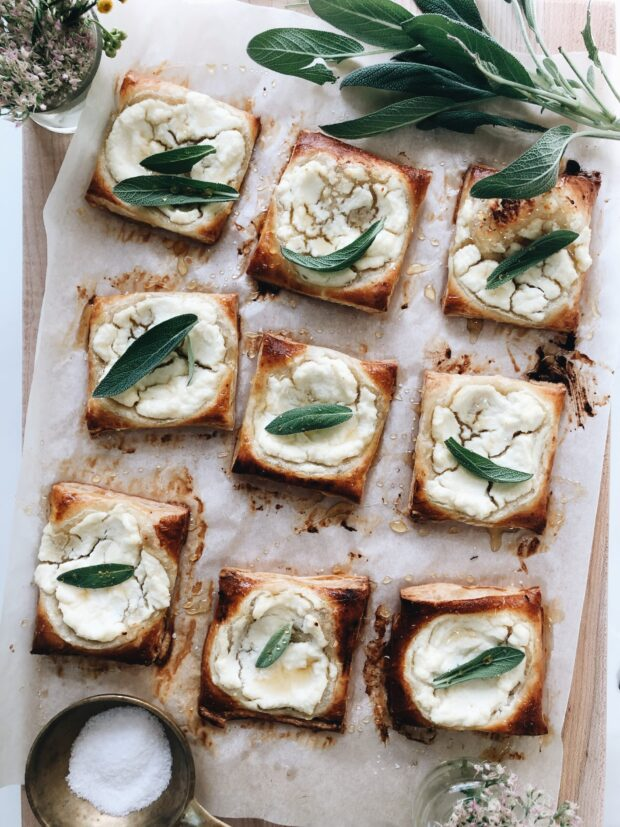 Sage and Ricotta Puff Pastry / Bev Cooks
